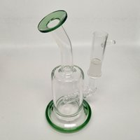 Mini Small Portable Glass Water Bongs Pipes Recycler Oil Dab...