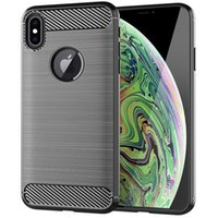 For iPhone XR Case Carbon Fiber Texture Back Cover Soft TPU ...