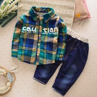 baby boys clothing sets long sleeve cotton plaid coat pants ...