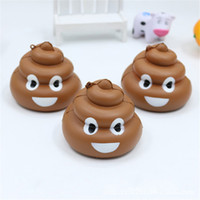 Jumbo Cute Cartoon Face Poo Squishy Slow Rising Phone Straps...