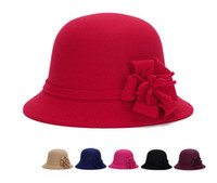Imitation Wool Round Party Women Hat Ladies Women Vintage Im...