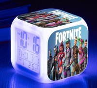 Fortnite Table Clock Color Changing LED Alarm Clock Game For...
