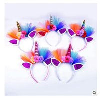 Lace Hairbands Children Unicorn Horn Kids Gift Lovely Elasti...