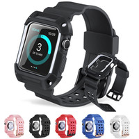 2 in 1 TPU Watchband for Apple watch Strap with Case shatter...