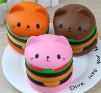 Squishy Jumbo Burger Cat Hamburger Kawaii Cartoon Cute Soft ...