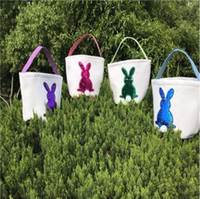 Easter Mermaid Sequins Baskets Rabbit Burlap Bags DIY Bunny ...
