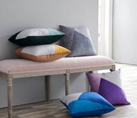 Geometric Velvet Pillow Case Home Bedroom Sofa Decor Polyest...