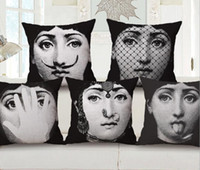 Linen Beauty Printed Pillow Case Vintage Art Beauty Face pil...