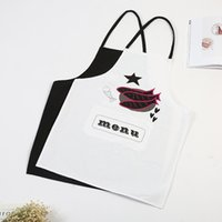 New print sleeveless apron household kitchen cleaning overco...