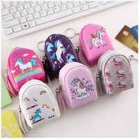 Unicorn Coin Purse Women Mini Wallet PU Leather Tassel Keys ...