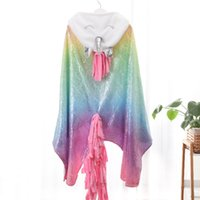 Unicorn Blanket Soft flannel unicorn shawl Fleece blanket wr...