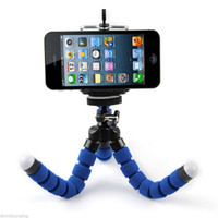 Wholesale octopus tripod stand phone holder online - Car Cell Phone Holder Flexible Octopus Tripod Bracket Selfie Stand Mount Monopod Styling Accessories For Mobile Phone Samsung Camera
