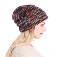 Wholesale derby style hats for sale - New Blue Red Grey Style Knit Slouchy Beanie Cap Autumn Winter Knitted Skull Caps Fashion Beanies Sports Hats Casual Caps For Men Women
