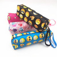 Wholesale Students Emoji Pencil Bags Large Capacity School Stationery Supplies Pencils Bags Fashion Women Makeup Bags Cosmetic Bag IA978