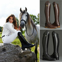 Wholesale Cool Women Rider Horse Riding Boots Smooth Leather Knee High Autumn Winter Warm High Boots Mountain Riding Boots
