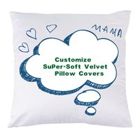 Wholesale Customize Super Soft Velvet Pillow Covers Digital Printing Super Soft Short Plush Sofa Cushion Covers Promotional Advertising Gifts inch