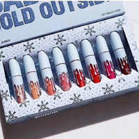 Wholesale kylie christmas lip edition for sale - 2018 A Quality kylie jenner Makeup Christmas edition set Lipsticks set colors Lip Gloss Liquid lipstick Baby It s Cold Outside