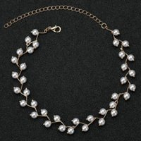 Wholesale wholesale beaded wedding dresses online - NEW STYLE RECOMMENDED COLLAR PEARL NECKLACE FOR WOMEN BEADED BEADS PEARLS BRIDAL WEDDING DRESS ACCESSORIES GRACE FEMALE NECKLACES JEWELRY