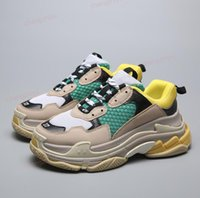 Wholesale Fashion Paris FW Triple S shoes Sneaker Triple S Casual Luxury Dad Shoes for Men s Women Beige Black Sports Tennis Shoes