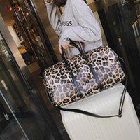 Wholesale travel bags for sale - Women Sling Shoulder Crossbody Bag Large Capacity Leopard Travel Bags Pu Leather Weekend Duffel Bag