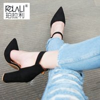 Wholesale toe strappy platform for sale - 2019 Dress POLALI Sexy Classic High Heels Women s Sandals Summer Shoes Ladies Strappy Pumps Platform Heels Woman Ankle Strap Shoes