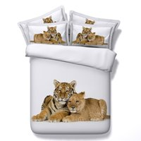 Wholesale quilts covers online - lions Digital print Bedding Set Quilt Cover Design Bed Set Bohemian a Mini Van Bedclothes Large size cm JF100