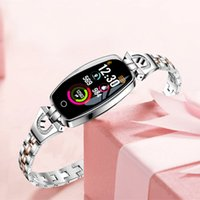 Wholesale H8 women smart wristband fitness tracker bracelet Heart Rate Monitor blood pressure oxygen smart band best gift for Lady