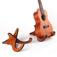 Wholesale acoustic folk guitar online - Ukulele Violins Wood Stand Bracket Holder Musical Instrument For Acoustic Folk Classical Guitars Cello Natural Wood Color