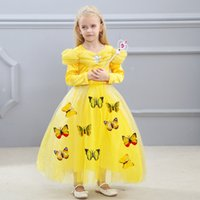 Wholesale pink butterfly costume for sale - 1pcs Girls Cinderella Cosplay costumes Princess Dress With Butterfly For Each Kids Easter Rhinestone Formal Gowns Clothing Colors