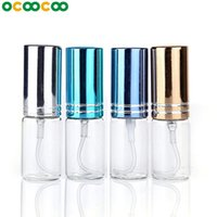 Wholesale 1pcs ml ML Portable Colorful Glass Refillable Perfume Bottle With Atomizer Empty Cosmetic Containers With Sprayer For Travel