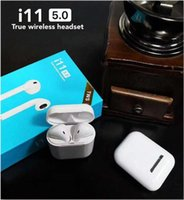 Wholesale i11 TWS Wireless Bluetooth Headphones Earbuds Earphones with Charging Box Twins Mini Earbuds for iPhone X IOS Android i11 touch SIRI