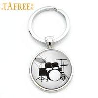 Wholesale drum gift set for sale - TAFREE Drum Kit silhouette key chain DJ turner mixer