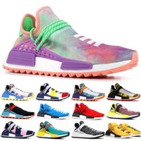 09acae9734b55 2019 NMD Human Race Mens Running Shoes Pharrell Williams BBC with box  Yellow Core Black Sport Hu trail Nobel Designer Shoes Women Sneaker