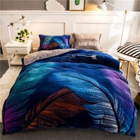 Wholesale beautiful king size bedding for sale - Fanaijia feather Flannel bedding sets queen size duvet Cover With Pillowcases sheet Bed Set Beautiful Bedclothes High quality