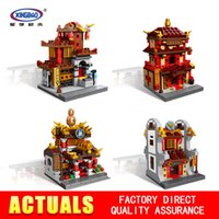Wholesale architecture online - New Xingbao MOC Chinese architecture Series The pharmacy Children Educational Building Blocks Bricks Toys Model