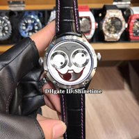 Wholesale a2 stainless steel online - New Luxury Brand mm Russian Clown Smiley face AHCI Konstantin Chaykin Quartz Mens Watch Steel Case Sapphire Leather Strap Gents Watches A2