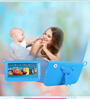 Wholesale NEW DHL Kids Brand Tablet PC quot Quad Core children tablet Android christmas gift A33 google player wifi big speaker protective cover G