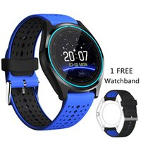 Wholesale dz09 smart watch online - V9 smartwatch android V8 DZ09 U8 samsung smart watches SIM Intelligent mobile phone watch can record the sleep state Smart watch