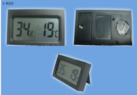 Wholesale fedex car online - Mini Digital LCD Car outdoor Thermometer Hygrometer TH05 Thermometers Hygrometers in stock fast shipment by DHL fedex