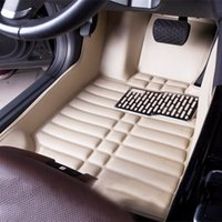 Wholesale ford car parts for sale - For Ford mustang mondeo edge escape EXplorer F High quality leather car carpet automotive interior parts multi color waterproof mats