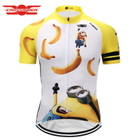 Wholesale minion clothes online - Crossrider Minions cartoon Cycling Jersey classic funny Bike Wear Clothes Short Maillot Roupa Ropa De Ciclismo Hombre Verano