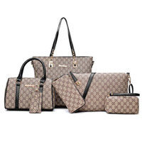 Wholesale tote bags online - Luxury Women Designer Handbags High Quality Brand Ladies Plaid Shoulder Messenger Clutches Bags Set