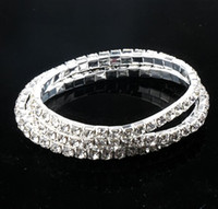Wholesale tennis bracelets for sale - Clear Crystal Tennis Bracelets styles length Silver Plated Spring Row row Line stones stones stones