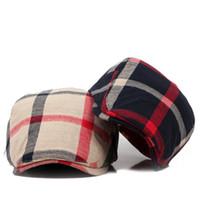 Wholesale derby style hats for sale - Classic Englad Style Plaid Berets Caps For Men Women Casual Unisex Sports Caps Cotton Berets Hats Boina Casquette Flat Cap