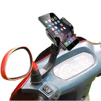 Wholesale motorbike phone holders online - 360 Degrees Rotation Motorbike Motorcycle Holder Rear view Marrow Bracket Stand for Mobile Cell Phones MP4 PDA GPS Holders