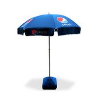 Wholesale 52in Custom Garden Patio Parasol Table Sun Shade Umbrella Outdoor Beach Parasol With L Plastic Blue Water Tank Custom Printing Service