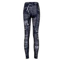 Wholesale sexy yoga pants for sale - 2017 NEW Game of Thrones Newpaper Daily Prints Sexy Girl Pencil Yoga Pants GYM Fitness Workout Polyester Women Leggings Plus Size