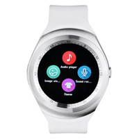 Wholesale y1 smart watch for sale - Hot Sell Y1 smart watches Latest Round Touch Screen Round Face Smartwatch Phone with SIM Card Slot smart watch for IOS Android