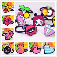 Wholesale Hot Sale New Fashion personality lovely graffiti lips love the blink of an eye summer Cartoon dovetail Accessories Hair Bands B0534