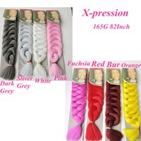 Wholesale braid synthetic online - Kanekalon jumbo braids Twist hair inch grams Premium Ultra Expression synthetic braiding hair extensions hot sale